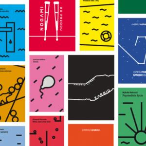 grafika przedstawia zbiór okładek książek wydanych w ramach serii Wschodni Express