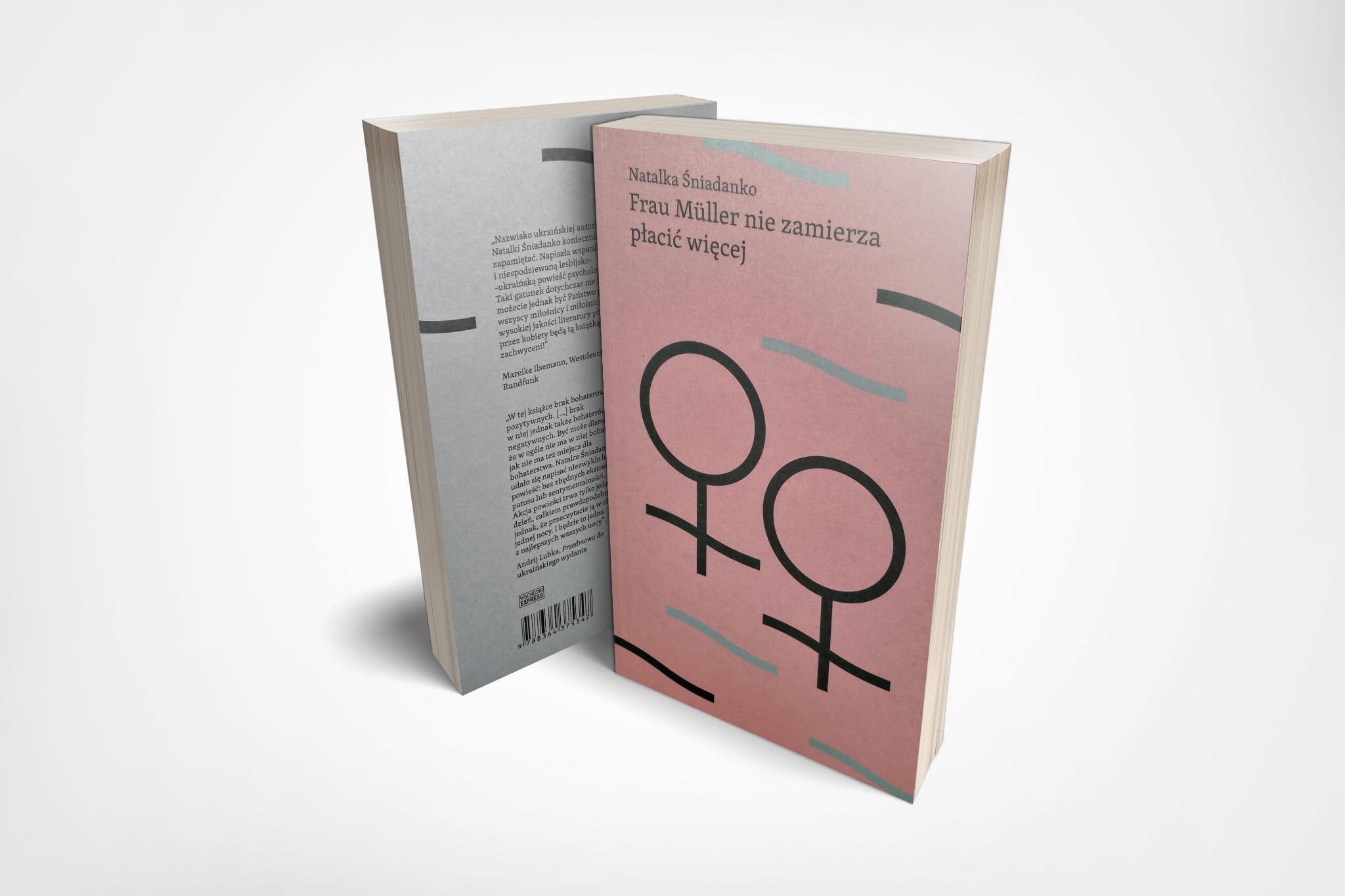 Na zdjęciu znajduje cie książka Natalki Śniadanko. Na okładce widzimy symbol kobiecości na różowym tle. Ilustracja wykonana jest w prostym geometrycznym stylu.