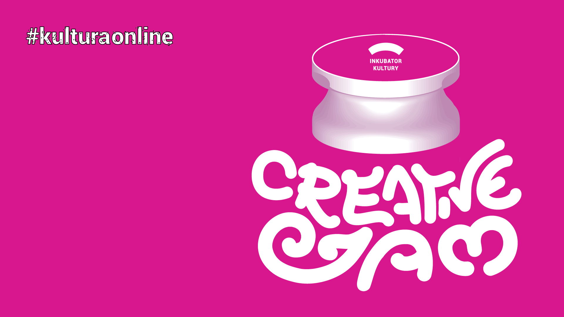 an image promoting the event creative jam. The illustration resembles a jar with the words Creative Jam below it