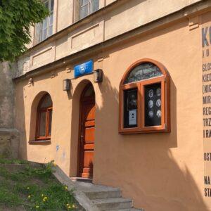 zdjęcie przedstawia budynek Warsztatu Fotograficznego Warsztatów Kultury w Zaułku Hartwigów