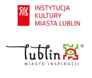 Logo Instytucja Kultury Miasta Lublin oraz Lublin Miasto Inspiracji